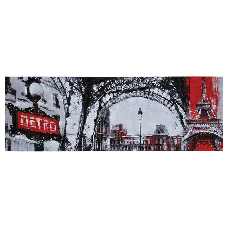"""Ren Wil OL917 Urban Paris 60"""" Wide by 20"""" High Canvas Wall D�©cor NA"""