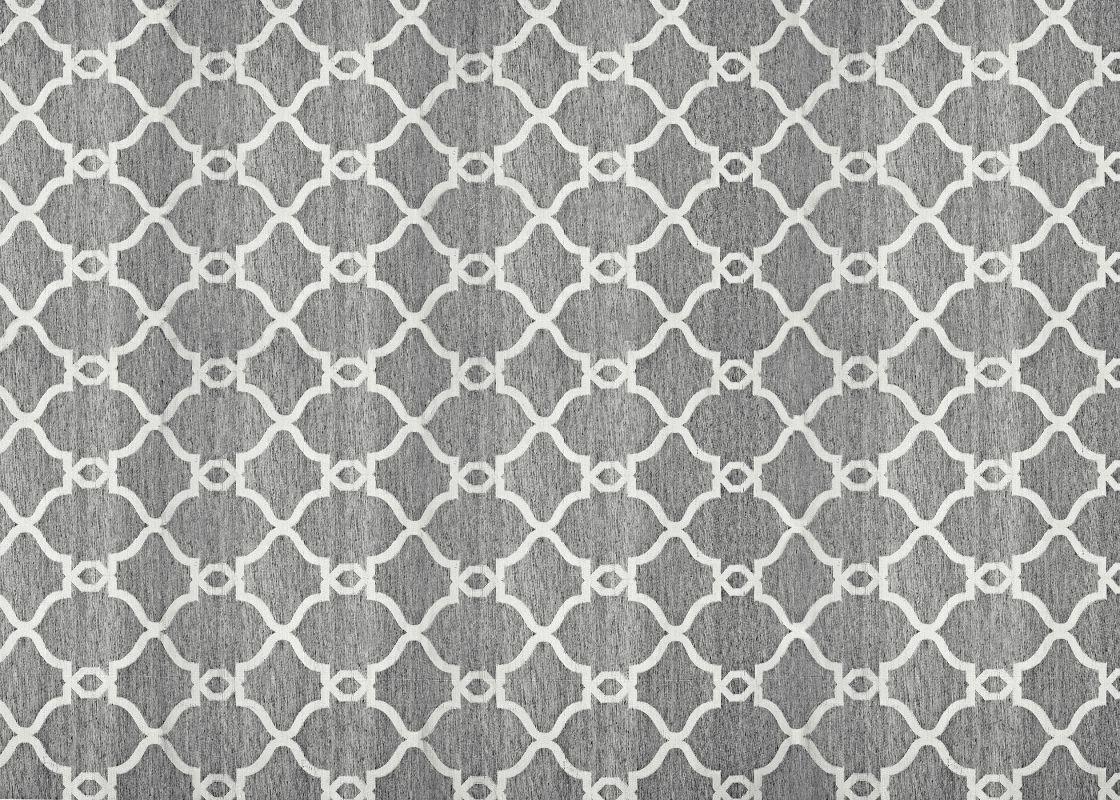 Ren Wil RSIL-02 Silky Flat Weave Wool Rug Dark Grey 5 x 8 Home Decor