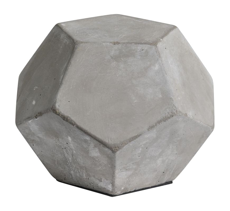 "Ren Wil STA404 Laxholm 5"" Tall Decorative Cement Dodecahedron"