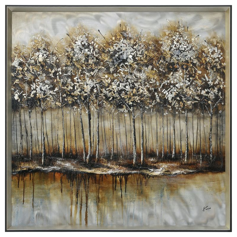 """Ren Wil W6115 Metallic Forest 40"""" Wide by 40"""" High Wall D�©cor Home"""