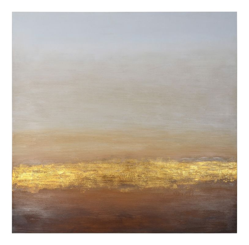 """Ren Wil W6315 Warm Horizons 45"""" Tall and 45"""" Wide Canvas Abstract Wall"""
