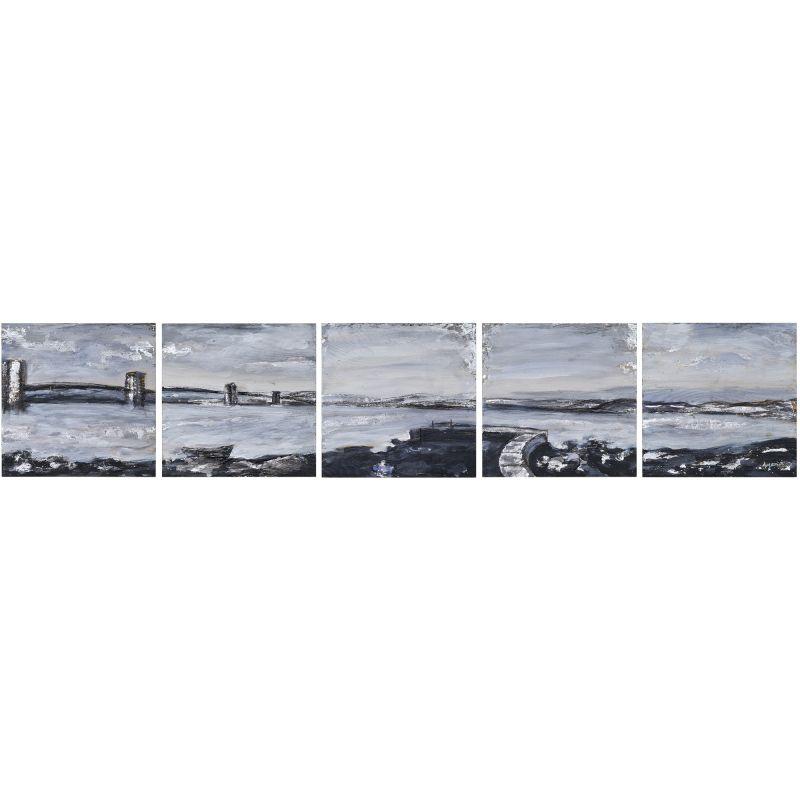 "Ren Wil W6326 Hexad Horizon 10"" Tall and 10"" Wide Canvas Still Life"