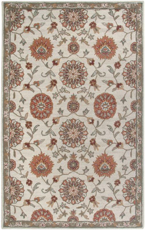 Rizzy Home AL2577 Ashlyn Hand-Tufted New Zealand Wool Rug Beige 5 x 8