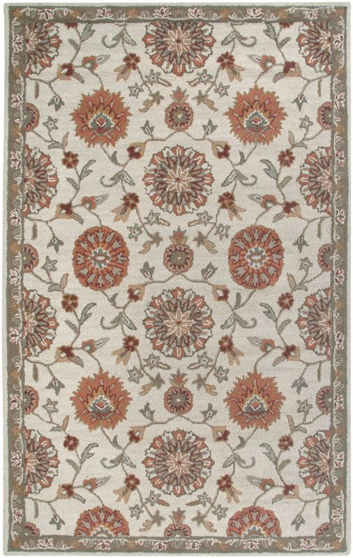 Rizzy Home AL2577 Ashlyn Hand-Tufted New Zealand Wool Rug Beige 8 x 10