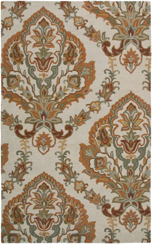 Rizzy Home AL2665 Ashlyn Hand-Tufted New Zealand Wool Rug Beige 8 x 10