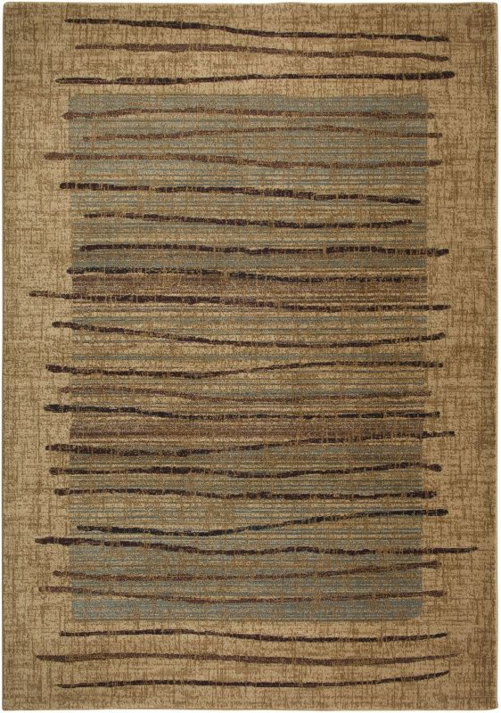 Rizzy Home BV3193 Bellevue Power Loomed Polypropylene Rug Beige 9 1/4