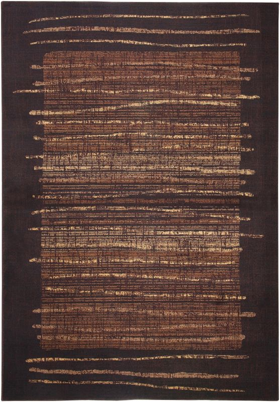 Rizzy Home BV3194 Bellevue Power Loomed Polypropylene Rug Brown 6 1/2
