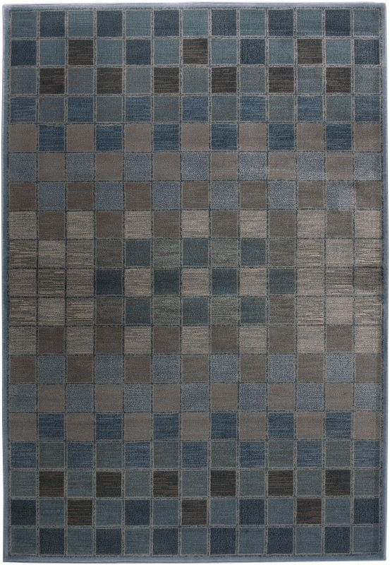 Rizzy Home BV3197 Bellevue Power Loomed Polypropylene Rug Blue 9 1/4 x