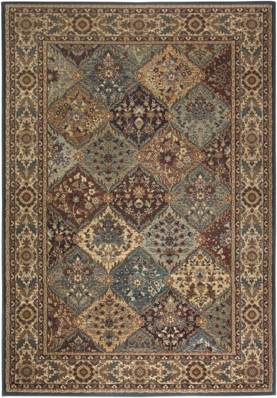 Rizzy Home BV3199 Bellevue Power Loomed Polypropylene Rug Multi 2 1/4