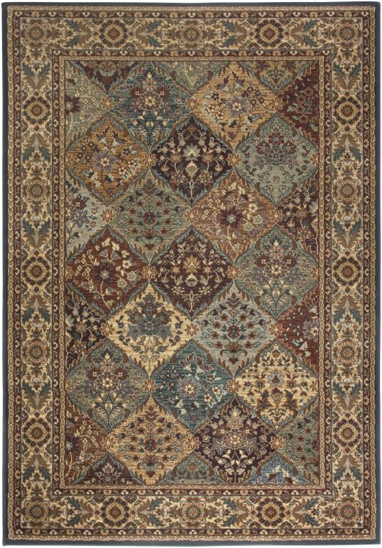 Rizzy Home BV3199 Bellevue Power Loomed Polypropylene Rug Multi 7 3/4
