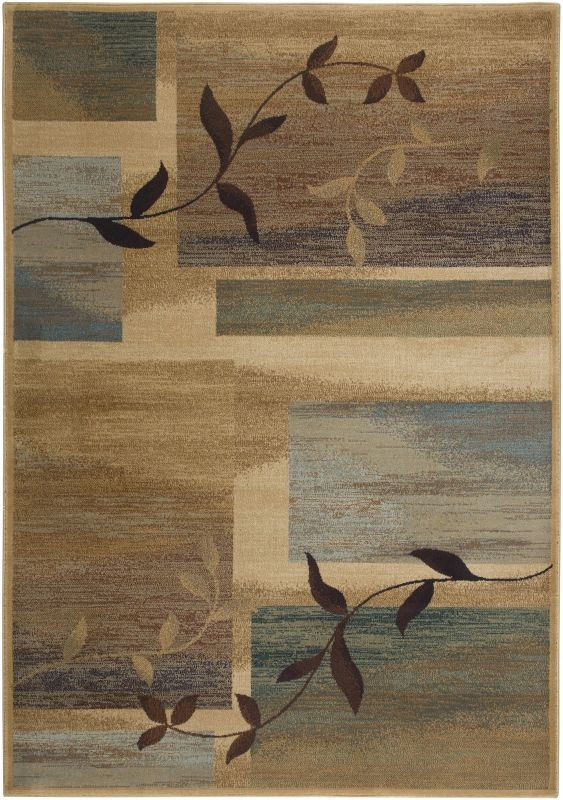Rizzy Home BV3201 Bellevue Power Loomed Polypropylene Rug Beige 9 1/4