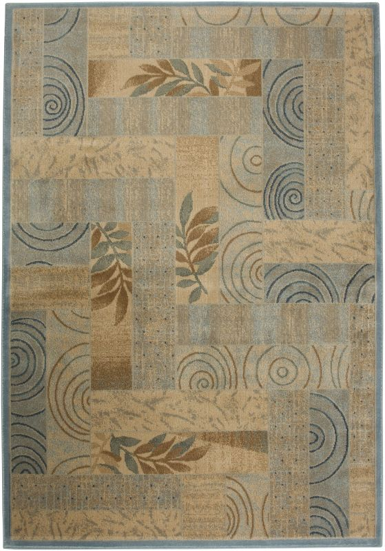 Rizzy Home BV3203 Bellevue Power Loomed Polypropylene Rug Blue 3 1/4 x