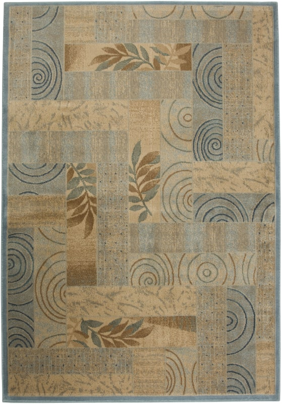 Rizzy Home BV3203 Bellevue Power Loomed Polypropylene Rug Blue 7 3/4 x
