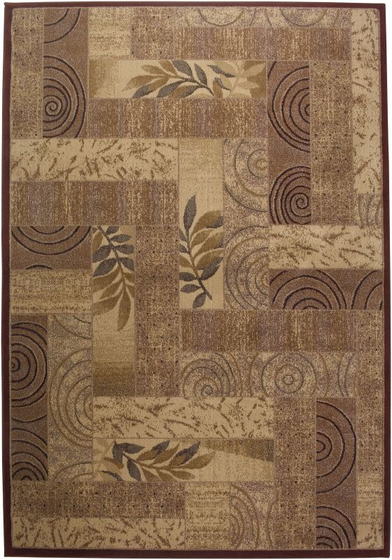 Rizzy Home BV3204 Bellevue Power Loomed Polypropylene Rug Red 5 1/4 x