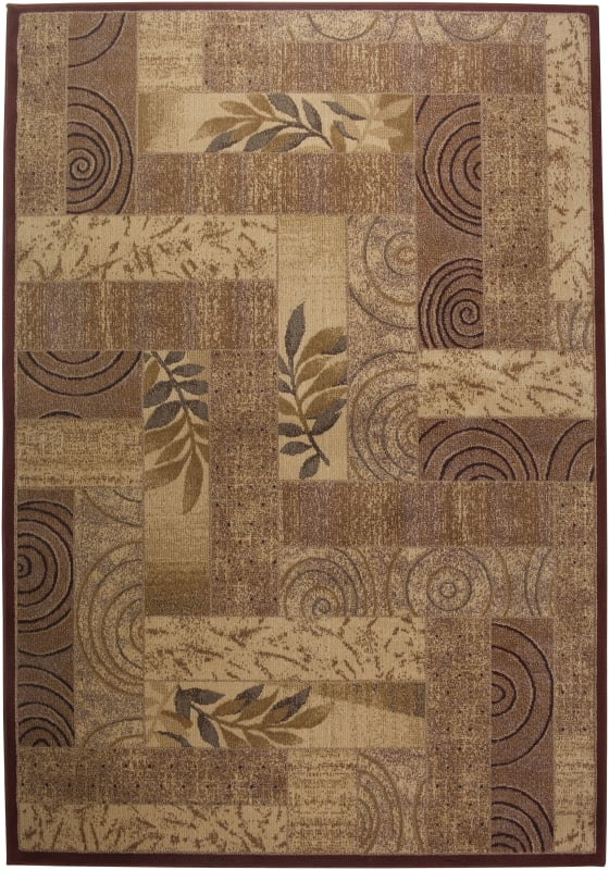 Rizzy Home BV3204 Bellevue Power Loomed Polypropylene Rug Red 7 3/4 x