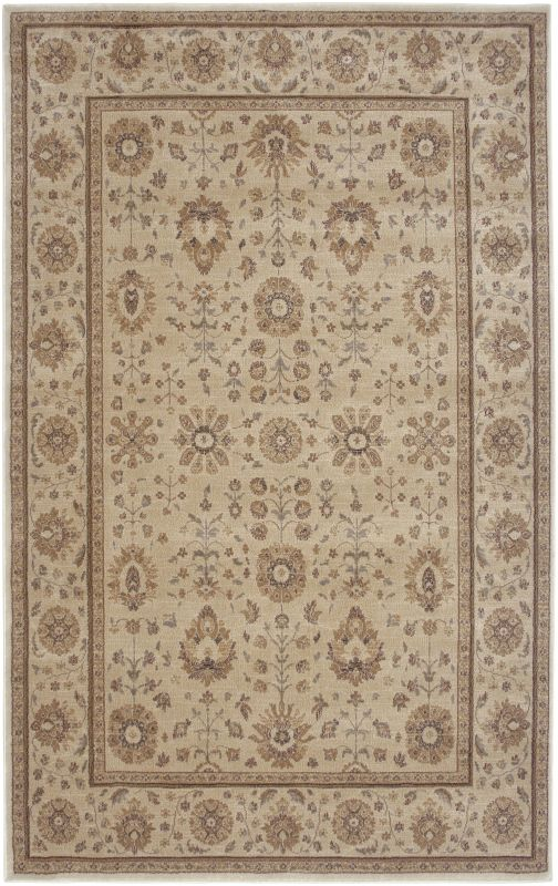Rizzy Home BV3412 Bellevue Power Loomed Polypropylene Rug Ivory 5 1/4