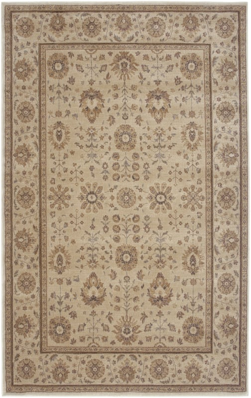 Rizzy Home BV3412 Bellevue Power Loomed Polypropylene Rug Ivory 6 1/2