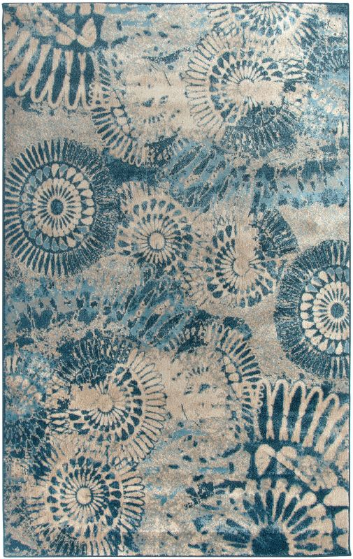 Rizzy Home BV3423 Bellevue Power Loomed Polypropylene Rug Blue 2 1/4 x