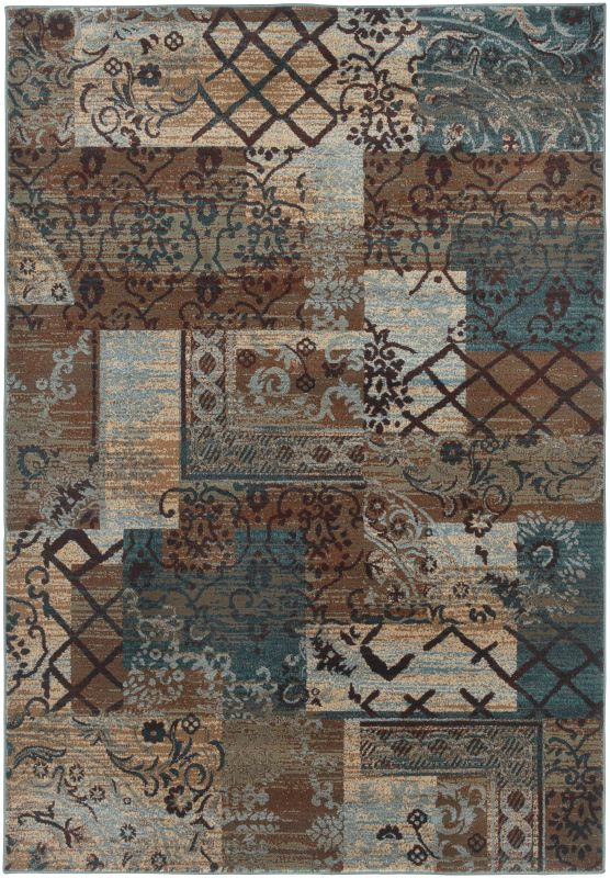 Rizzy Home BV3698 Bellevue Power Loomed Polypropylene Rug Multi 7 3/4