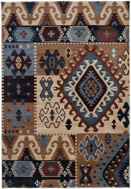 Rizzy Home BV3703 Bellevue Power Loomed Polypropylene Rug Multi 6 1/2