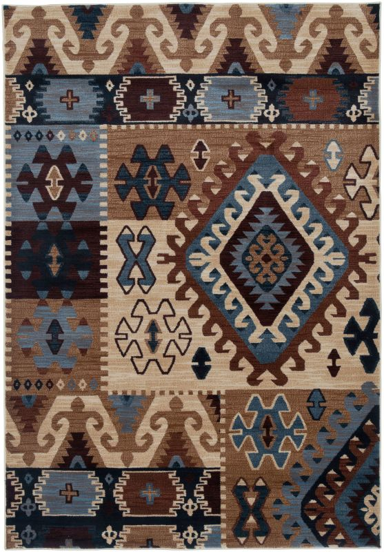Rizzy Home BV3703 Bellevue Power Loomed Polypropylene Rug Multi 9 1/4