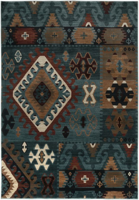 Rizzy Home BV3704 Bellevue Power Loomed Polypropylene Rug Blue 3 1/4 x
