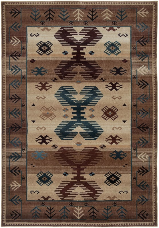 Rizzy Home BV3705 Bellevue Power Loomed Polypropylene Rug Beige 2 1/4