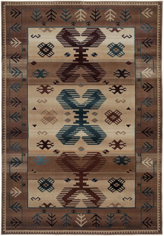 Rizzy Home BV3705 Bellevue Power Loomed Polypropylene Rug Beige 5 1/4
