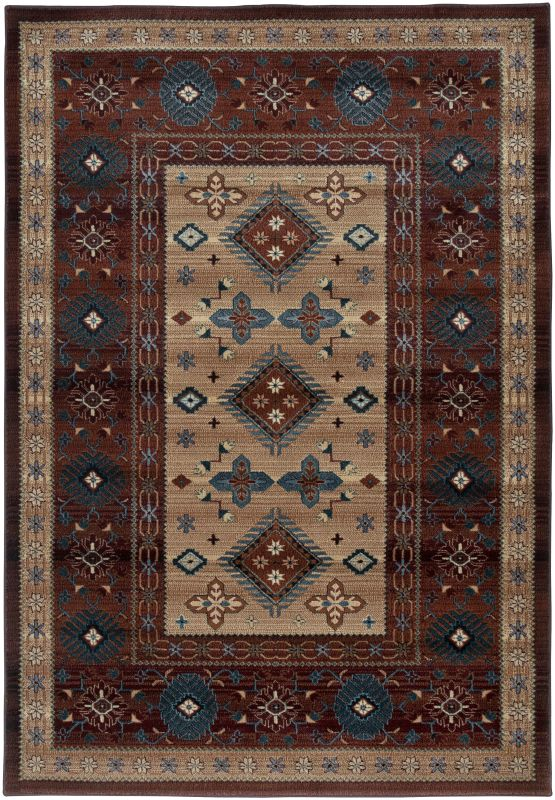 Rizzy Home BV3709 Bellevue Power Loomed Polypropylene Rug Red 6 1/2 x