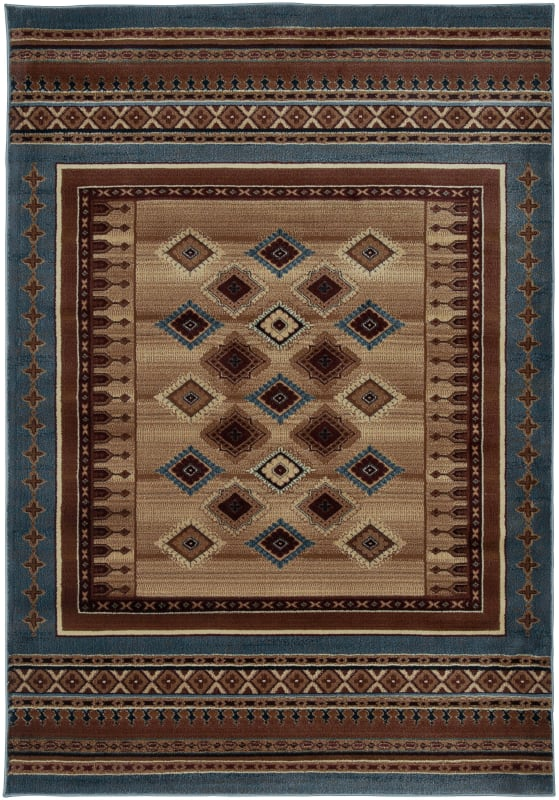 Rizzy Home BV3712 Bellevue Power Loomed Polypropylene Rug Blue 5 1/4 x Sale $230.00 ITEM: bci2615569 ID#:BLVBV371200095377 UPC: 844353825121 :