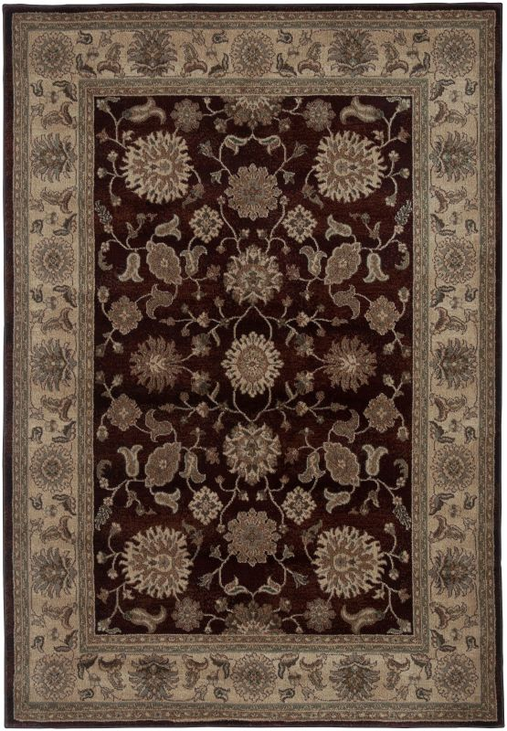 Rizzy Home BV3713 Bellevue Power Loomed Polypropylene Rug Red 5 1/4 x