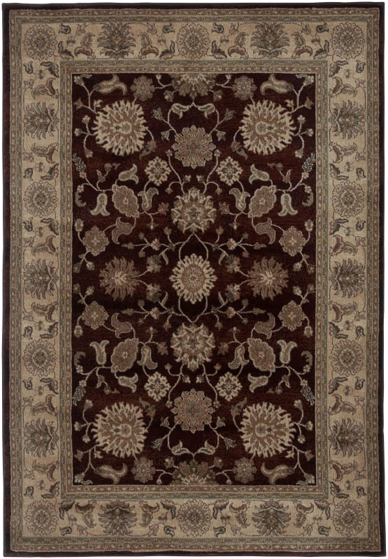 Rizzy Home BV3713 Bellevue Power Loomed Polypropylene Rug Red 9 1/4 x