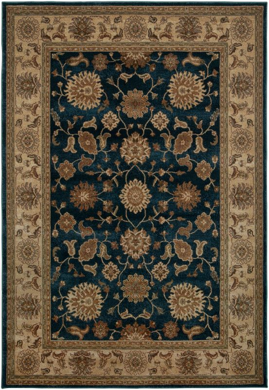 Rizzy Home BV3714 Bellevue Power Loomed Polypropylene Rug Blue 6 1/2 x