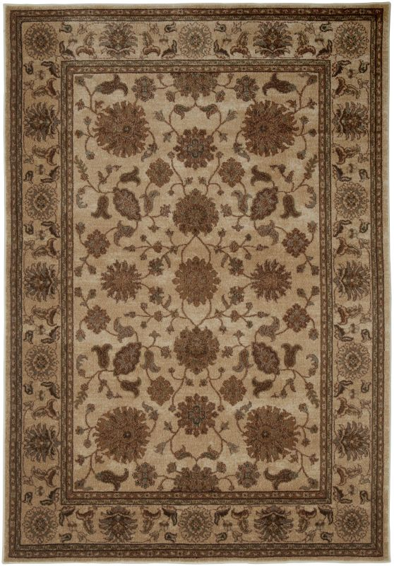 Rizzy Home BV3715 Bellevue Power Loomed Polypropylene Rug Beige 3 1/4