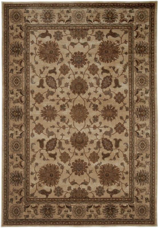 Rizzy Home BV3715 Bellevue Power Loomed Polypropylene Rug Beige 6 1/2