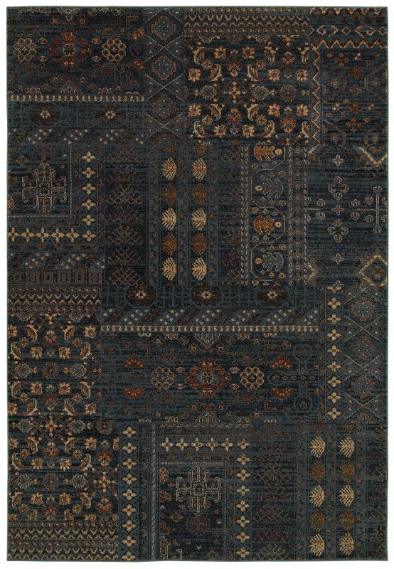 Rizzy Home BV3954 Bellevue Power Loomed Polypropylene Rug Blue 3 1/4