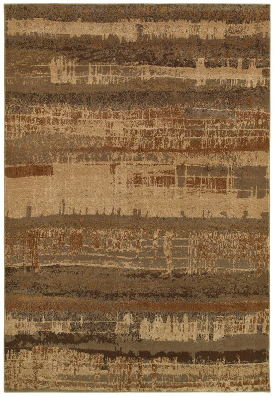 Rizzy Home BV3957 Bellevue Power Loomed Polypropylene Rug Beige 9 1/4