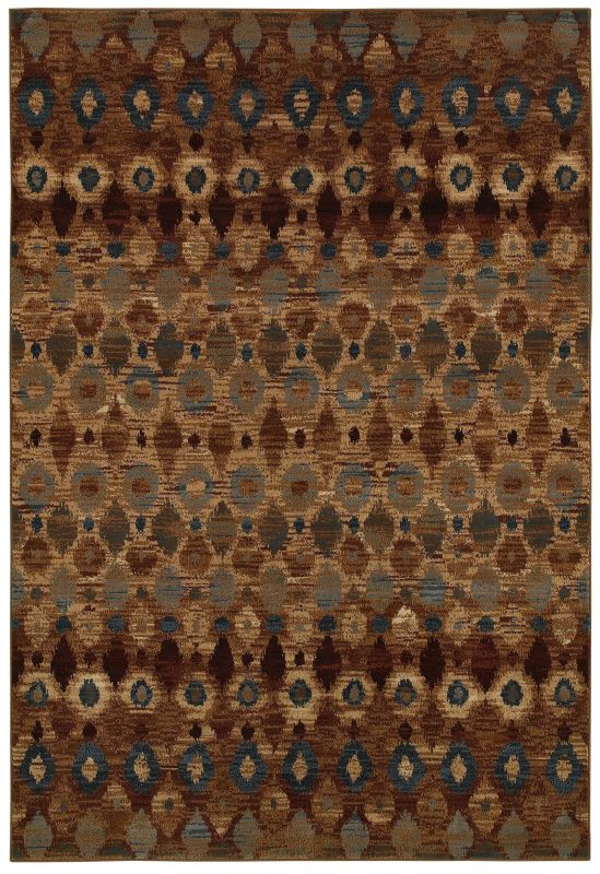Rizzy Home BV3966 Bellevue Power Loomed Polypropylene Rug Brown 2 1/4