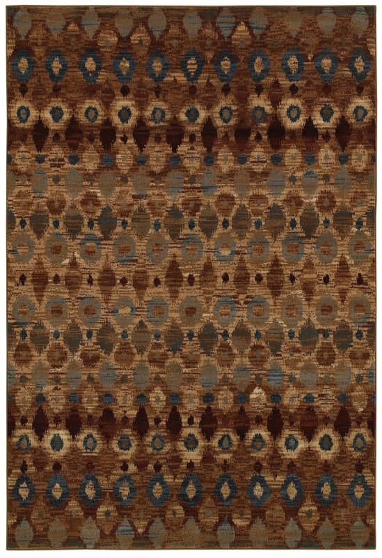 Rizzy Home BV3966 Bellevue Power Loomed Polypropylene Rug Brown 6 1/2