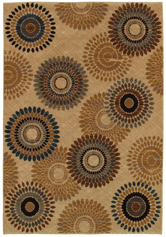 Rizzy Home BV3974 Bellevue Power Loomed Polypropylene Rug Beige 2 1/4