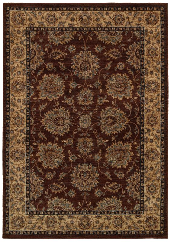 Rizzy Home BV3978 Bellevue Power Loomed Polypropylene Rug Brown 5 1/4