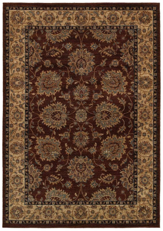 Rizzy Home BV3978 Bellevue Power Loomed Polypropylene Rug Brown 9 1/4