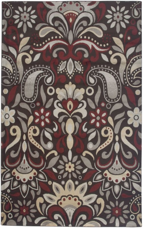 Rizzy Home BS3571 Bayside Power Loomed Polypropylene Rug Brown 6 1/2 x