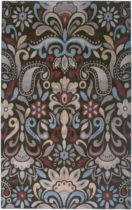 Rizzy Home BS3572 Bayside Power Loomed Polypropylene Rug Brown 6 1/2 x