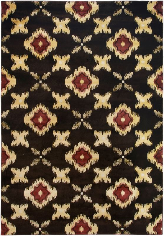 Rizzy Home BS3576 Bayside Power Loomed Polypropylene Rug Black 7 3/4 x