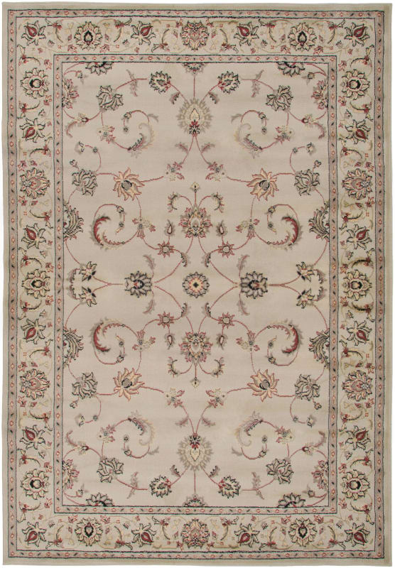 Rizzy Home BS3580 Bayside Power Loomed Polypropylene Rug Ivory 5 1/4 x