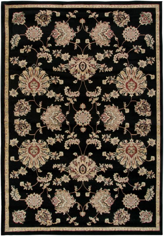 Rizzy Home BS3581 Bayside Power Loomed Polypropylene Rug Black 5 1/4 x