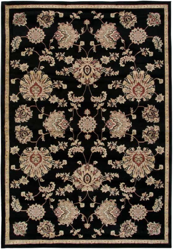 Rizzy Home BS3581 Bayside Power Loomed Polypropylene Rug Black 7 3/4 x