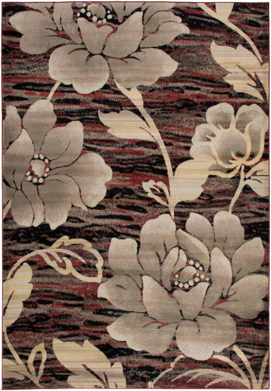 Rizzy Home BS3587 Bayside Power Loomed Polypropylene Rug Red 5 1/4 x 7