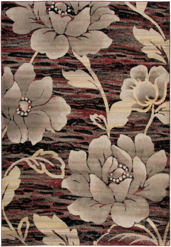 Rizzy Home BS3587 Bayside Power Loomed Polypropylene Rug Red 9 1/4 x